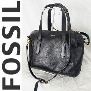 Fossil Black Gold Crossbody